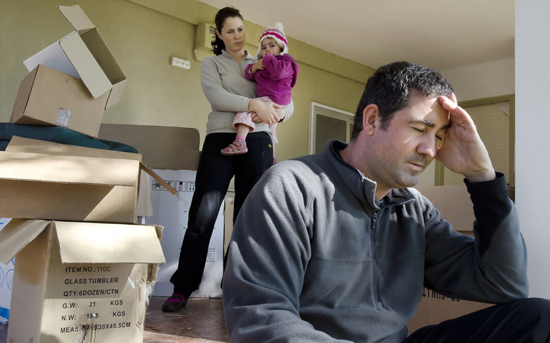 moving house can stress a family out